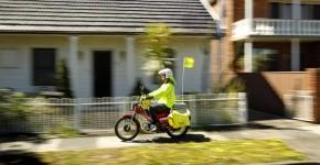Postie Bike - delivering mail