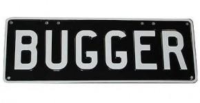 Bugger Number Plate
