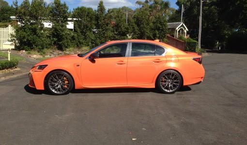 Lexus GS - F orange