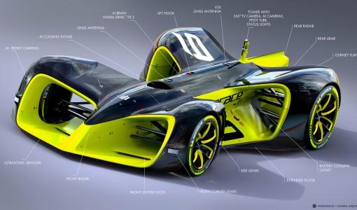 Robocar. Image by Chief Design Officer Daniel Simon / Roborace Ltd.
